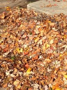 part of sidewalk pile